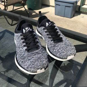 APL Techloom phantom grey white black sneakers